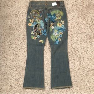 Marlow NWT Asian Embroidered Jeans Size 30/11